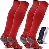 Voetbalsokken voor kinderen en heren, 2 paar, EU-maat 27-46, sportsokken, trainingssokken, sokken voor voetbal, hardlopen, tr