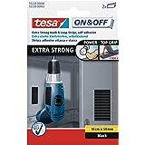 tesa On & Off Extra Strong Klittenbandstrips - Strips met sterke kleefkracht - Zware voorwerpen bevestigen zonder boren - Zwa