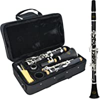 Sonata Student Bb Clarinet with Hard Case, Reed, Cleaning Cloth and Cork Grease