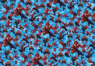 Krishna Creations Small Spiderman Printed Gift Wrapping Paper Along With Gift Tags Pack of 10