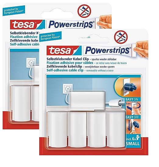 Neu tesa Powerstrips Kabel-Clip, weiß: Amazon.it: Fai da te UA87