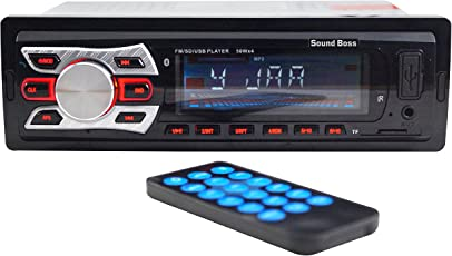 Sound Boss SB-50 Bluetooth Wireless With Phone Caller Id Receiver Car Media Player(Single Din)