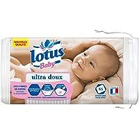 Lotus Baby Ultra Douce - Coton Bébé Peaux Sensibles, 65 Cotons - Lot de 5