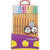 Fineliner – STABILO point 88 – ColorParade – 20-pack – med 20 olika färger
