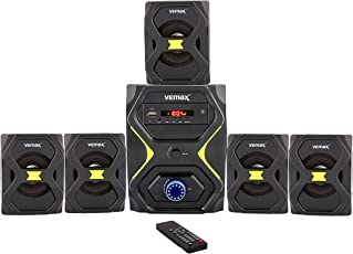 Vemax Lush 5.1 Multimedia Speaker Home Theater System with FM, USB, AUX & MMC (Black & Yellow)