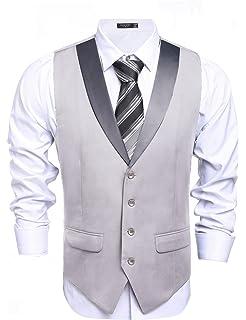 Coofandy Gilet de Costume Homme Veste sans Manche Casual Mariage Taille S -XXL fa5e651b4a8