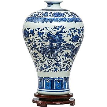 Jing Dezhen Blue And White Vasechinese Vintage Ceramic Vasesideal
