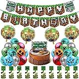 Decoración de cumpleaños para niños, Decoraciones de cumpleaños de videojuegos, pancarta de decoraciones de cumpleaños con gl