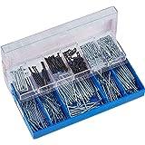 Connex Nagelassortiment 70-delig + 530 g - spijkers & kamdoeleinden in set - gesorteerd in praktische kunststof doos - geschi
