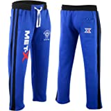 Men's Met-X Muscle Gym Fleece Joggers Track Suit Bottom Jogging Exercise Fitness Boxing MMA Gym Sweat Fleece Trousers Royal B