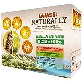 Iams Naturally - Multipack Alimento Completo Umido per Gatti Adulti 12x85gr - 1020 gr