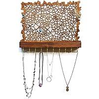 Espositore di gioielli da parete per orecchini, collane e bracciali - Design moderno fatto a mano