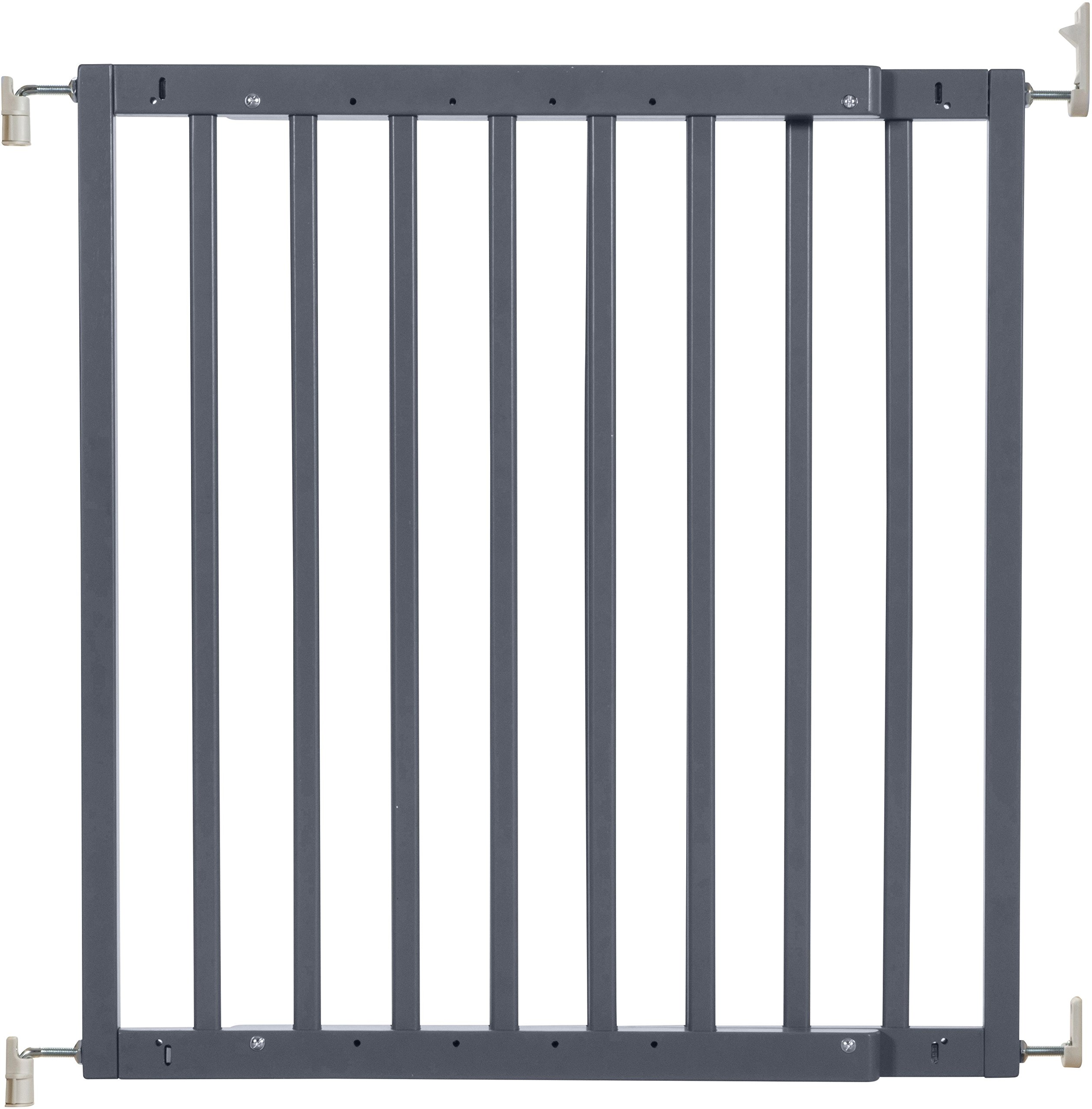 Badabulle Color Pop Safety Gate Grey Badabulle Fits openings between 63.5 cm and 103.5 cm Gate type opening Assembled in 7 minutes 1