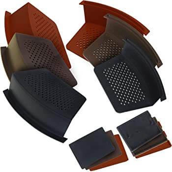 10 Pack Of Brown Easy Trim Universal Dry Verge System For