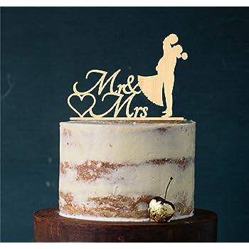 Cake Topper Kuss Tortenstecker Tortefigur Acryl Tortenstander