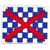 Gemelolandia | Parche Termoadhesivo de la Bandera del Tercio de Spinola 7cm | Muy Adherentes | Patch Stickers Para Decorar Tu