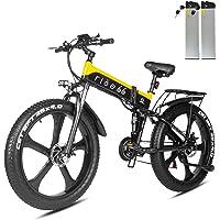 ride66 e Bike Mountainbike elektrofahrrad klapprad 26 Zoll Doppelbatterie 1000W ebike für Damen Herren