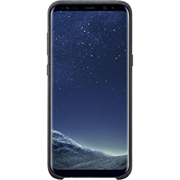 new product 8452f ddf92 Samsung EF-XG955ASEGWW Original Alcantara Case for Galaxy S8 Plus -  Black,EF-XG955ASEG