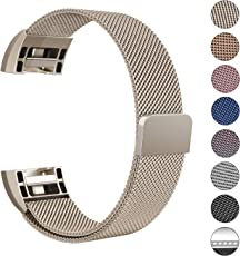 "Swees Milanese Fitbit Charge 2 Armband, Ersatzarmband Edelstahl Fitbit Charge 2 Wrist Band Strap, Small-Large (5.5""-9.9"")"