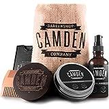 Kit barba deluxe per la cura della barba ● 100% naturale ● Made in EU ● Include olio, balsamo, spazzola e pettine per la cura