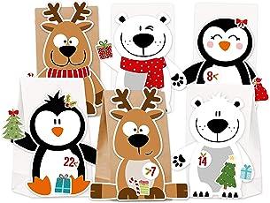 KuschelICH Adventskalender zum Befüllen Eisbär Rentier Pinguin