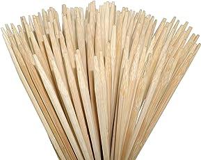 100 extra lange Lagerfeuer Spieße (Ø6mm) aus lebensmittelechtem Bambus zum Rösten von Marshmallows, Bratwürsten uvm. | kindergerecht | 90cm | auch für Feuerschalen | sehr stabil | ohne Splitter