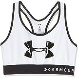 Under Armour Armour Mid Keyhole Graphic, ropa deportiva de mujer para correr, sujetador deportivo para mujer con espalda cruz