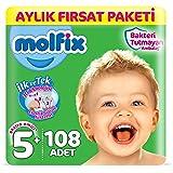 Molfix Bebek Bezi 5+ Beden Junior Plus Aylık Fırsat Paketi 108 Adet