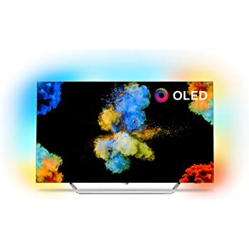 Philips 55POS9002/05 55-Inch 4K Ultra HD OLED TV with Android Smart TV, Ambilight 3-sided, HDR Perfect, Freeview HD, 30w Sound (2017 Model) Silver