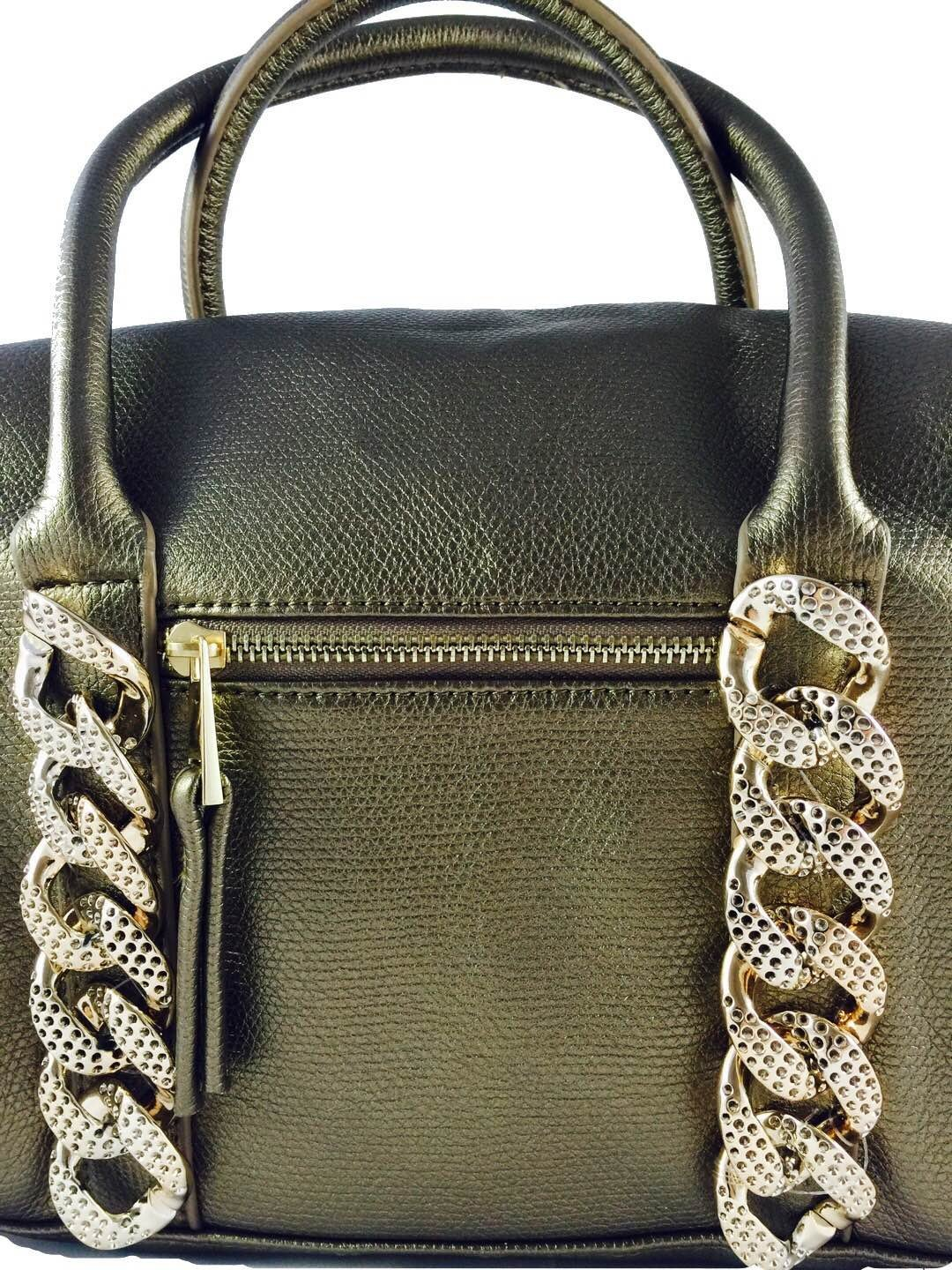 Gold chain tote bag - handmade-bags