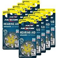ANSMANN AG ANSMANN Hörgerätebatterien 10 (Gelb 60 Stück) Typ 10 P10 PR70 ZL4 - Zink Luft 1,4V - Batterie für Hörgerät…