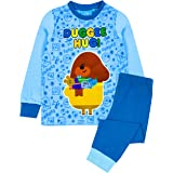 Hey Duggee Pyjamas For Boys | Kids Hug Blue T-Shirt & Long Length Bottom Pajamas | Childrens TV Show Merchandise