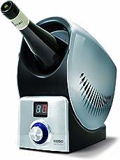 CASO Wine Control in silber, Kühl- und Warmhalte-Funktion mit LED Display