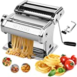 SEISSO Machine à Pâtes Laminoir à Pâtes En Acier Inoxydable Pour Tagliatelle/Spaghettis/Lasagnes/Ravioles