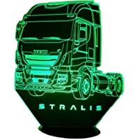 IVE. STRALIS, Lampada illusione 3D con LED - 7 colori.