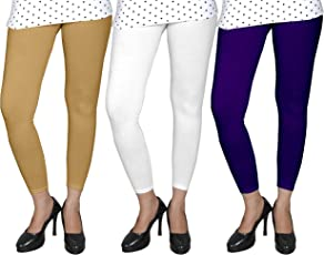 Ancientstar Ankle Length Leggings for Womens/Girls/Ladies (Pack of 3) Sizes-l/xl/xxl/3xl