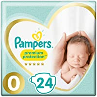 Pampers Premium Protection Size 0 Nappies (24 Nappies)