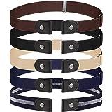 FRIUSATE 5 unidades de cinturón elástico, sin hebilla, cinturón elástico, cinturón invisible elástico para hombre o mujer