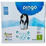 Pingo - Pañales Talla 6 XL - 2 paquetes de 32 unidades-15-30 kg- Pañales para bebé - Anti-alergénicos sin perfume - Máxima Ab