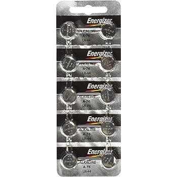 Energizer LR44 1.5V Button Cell Battery 10 pack (Replaces: LR44 CR44 SR44 357 SR44W AG13 G13 A76 A-76 PX76 675 1166a LR44H V13GA GP76A L1154 RW82B EPX76 SR44SW 303 SR44 S303 S357 SP303 SR44SW) Energizer Brand Name Batteries