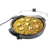 CASO Poêle de fête professionnelle – Poêle électrique multifonction pour pizza, burgers, légumes, etc. jusqu'à env. 240 °C, f