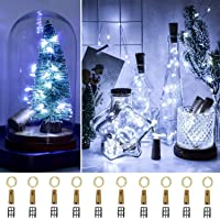 [10 Pack with 30 Spare Batteries] Ooklee Bottle Lights, 2m 20 LED Cork Light for Wine Bottles, Copper Wire Fairy String…