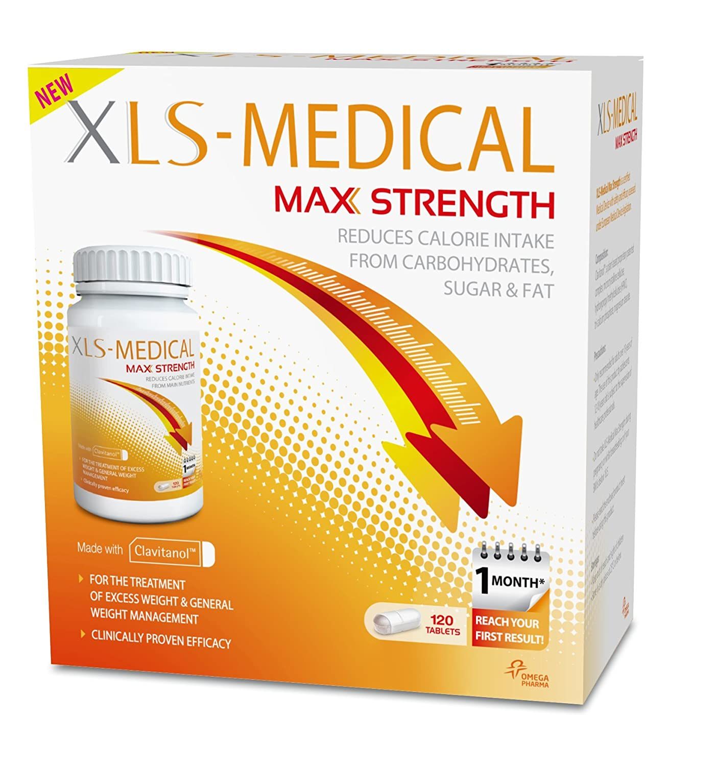 xls medical max strength diet pills for weight loss pack of 40