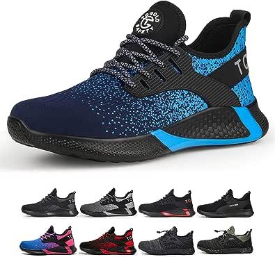 TQGOLD Chaussure de Securité Homme Femmes S3 Légères Chaussures de Travail avec Embout de Protection en Acier