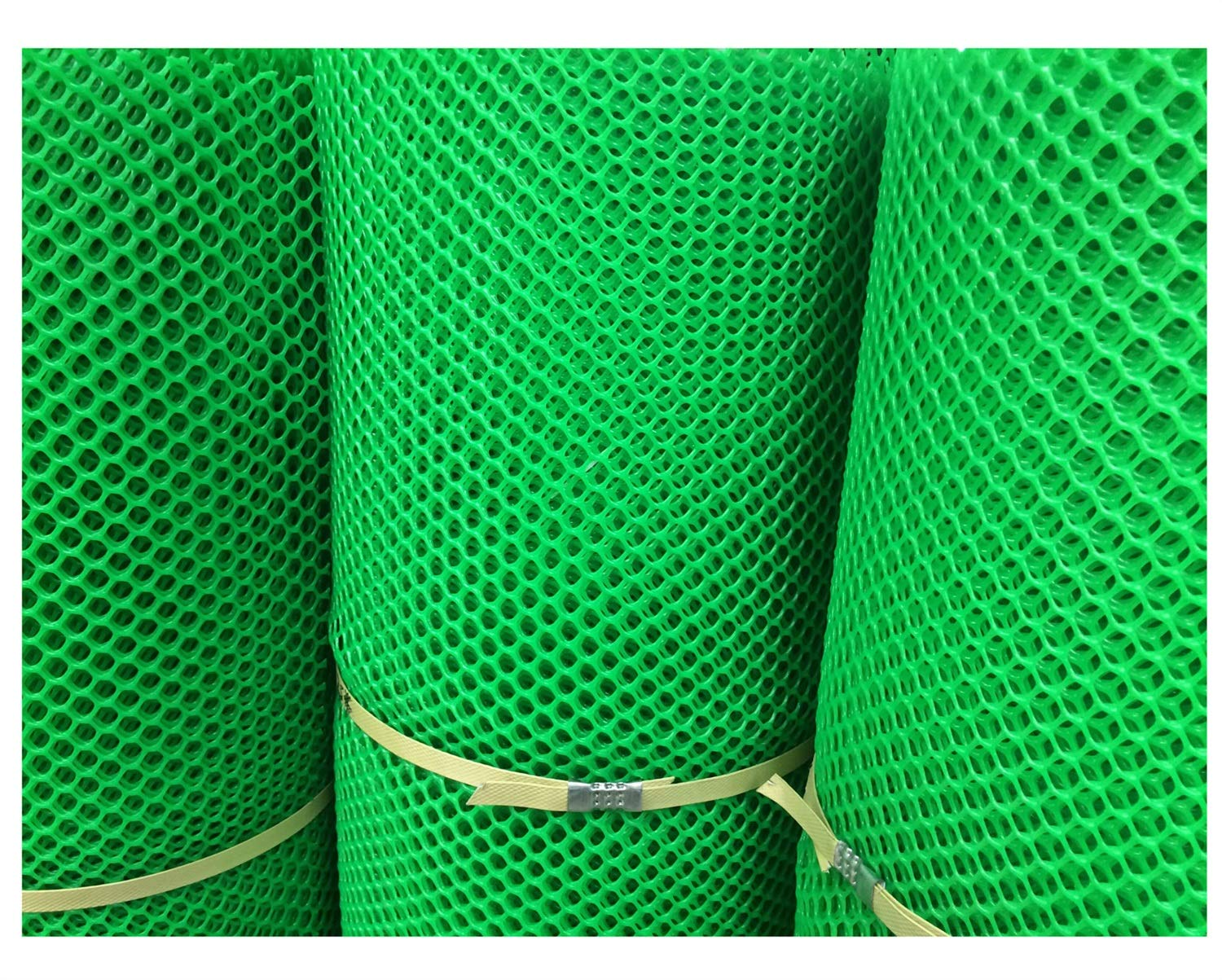 Grass Protection Mesh for Lawn or Car Park Reinforcement Green Plastic Child Safety Net Balcony Protection Net Stairs Anti-fall Net 10m 20m 30m 50m (Size : 2 * 50m) NNFHW ♦ Plastic safety mesh with a diameter of 1.8cm prevents children's head and body from falling through the railing and prevents toys and shoes from falling from the gap between the armrests. It can even be used as a pet safety door. Provide a safe gaming environment for children. ♦ Lawn protective grilles are used to reinforce large areas of flat surfaces, especially parks and lawn areas, slopes and embankments. The turf grid increases the load-bearing capacity of the soil. Effectively prevents the formation of ruts. Suitable for short-term parking, driveways, etc. ♦ Plastic flat net waterproof, wear-resistant, tough, light weight, long service life, non-toxic and tasteless, high transparency. Ideal for interior and exterior of residential buildings such as railings, stairs, cots, hallways, balconies, etc. The honeycomb design does not interfere with your view. 5