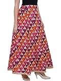 DAMEN MODE Women's Silk Flair Printed Skirt