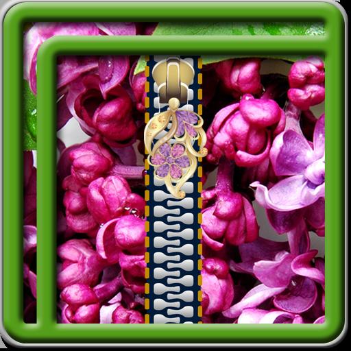 Zipper Lock Screen Lilac -