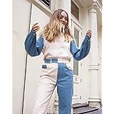 The Drop Camisa abotonada tricolor a bloques de manga larga para mujer por @viktoria.dahlberg
