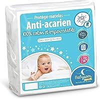 Babysom - Protège Matelas Bébé Anti-acarien - 60x120 cm | Alèse imperméable Souple et Silencieuse | Bouclette 100% Coton…