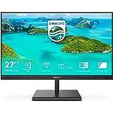 Philips 275E1S 27 tum (27 tum) skärm (VGA, HDMI, 4 ms reaktionstid, 2560 x 1440, 75 Hz, FreeSync, DisplayPort), svart